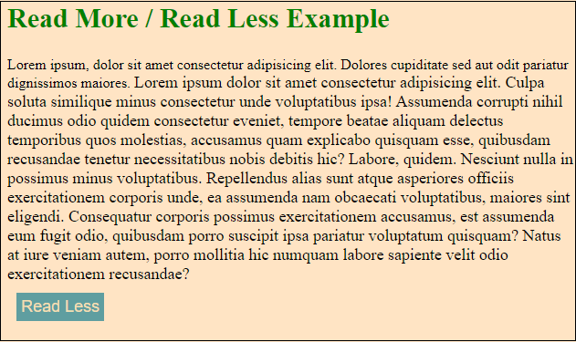 jQuery read more/read less