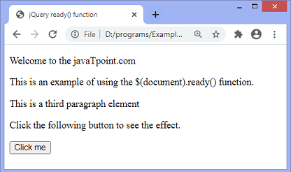 jQuery ready() function