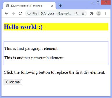 jQuery replaceAll() method