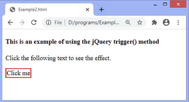 jQuery trigger() method