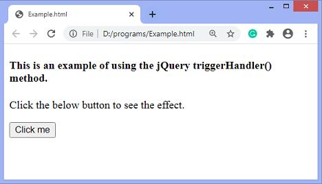 jQuery triggerHandler() method