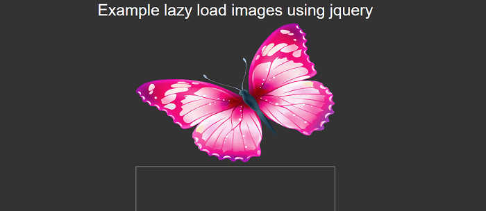 Lazy load images using jQuery