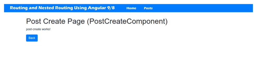 Angular 9/8 Routing and Nested Routing
