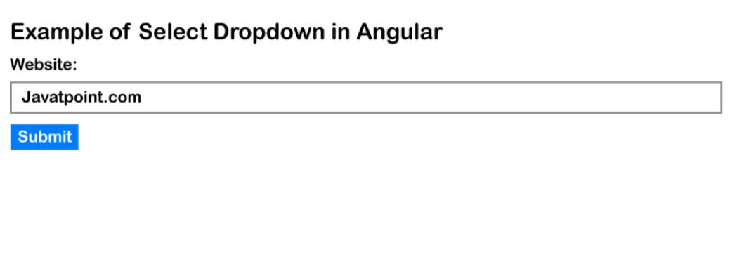 Angular 9/8 Select Dropdown Example