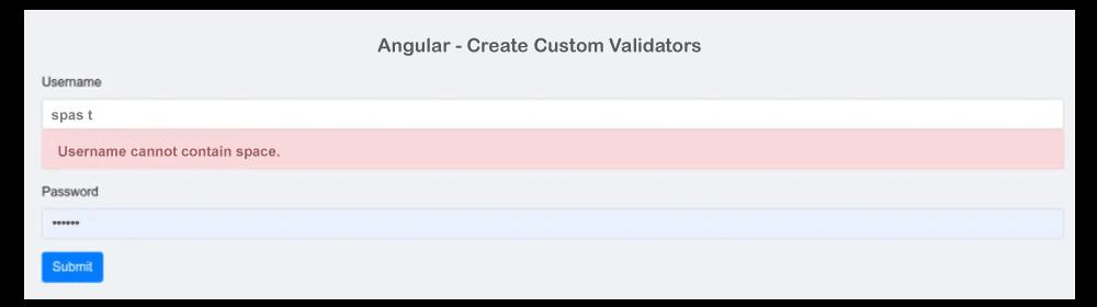 Angular Form Validation no Whitespace Allowed