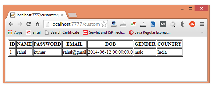 jsp custom tag attribute example/>  <div id=