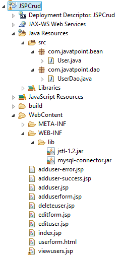 JSP CRUD Example