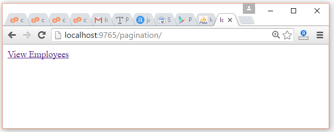 JSP Pagination Example 1