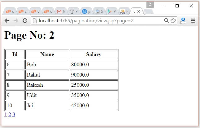 JSP Pagination Example 3