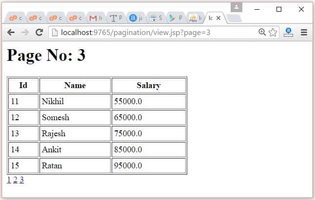 JSP Pagination Example 4