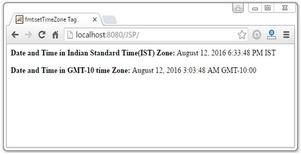 JSTL Formatting Tags6