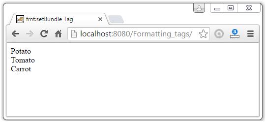JSTL Formatting Tags7
