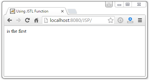 JSTL Function Tags11