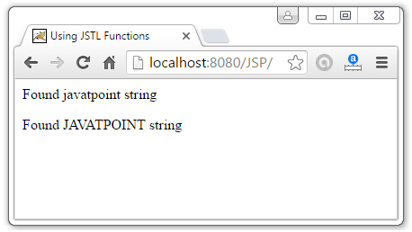 JSTL Function Tags2