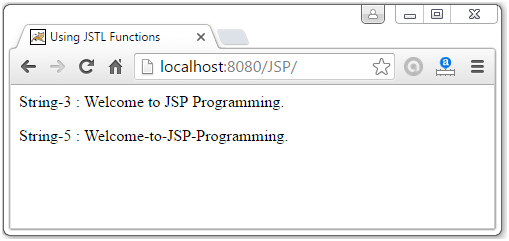 JSTL Function Tags8