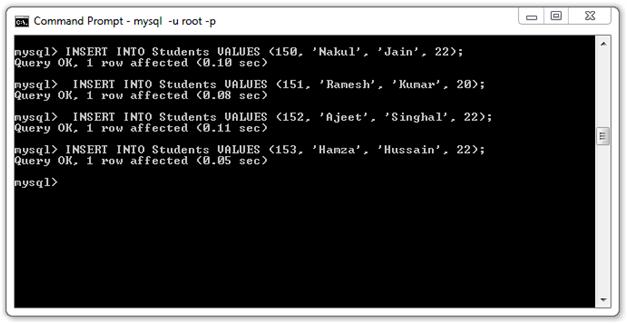 JSTL SQL Tag4