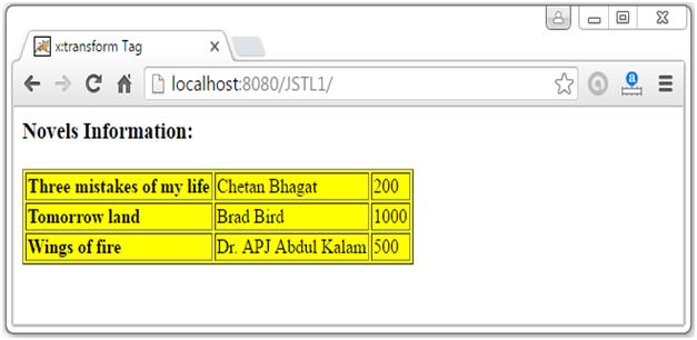 JSTL XML Tags7