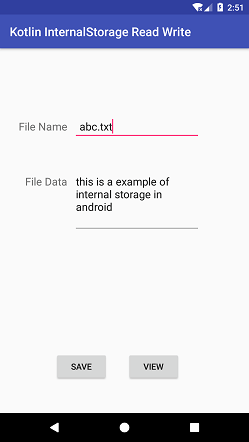 Kotlin Android Read and Write Internal Storage