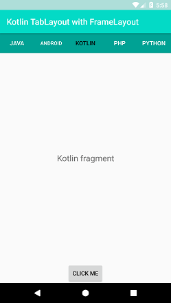 Kotlin Android TabLayout with FrameLayout
