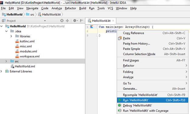 Kotlin First Program IDE 6
