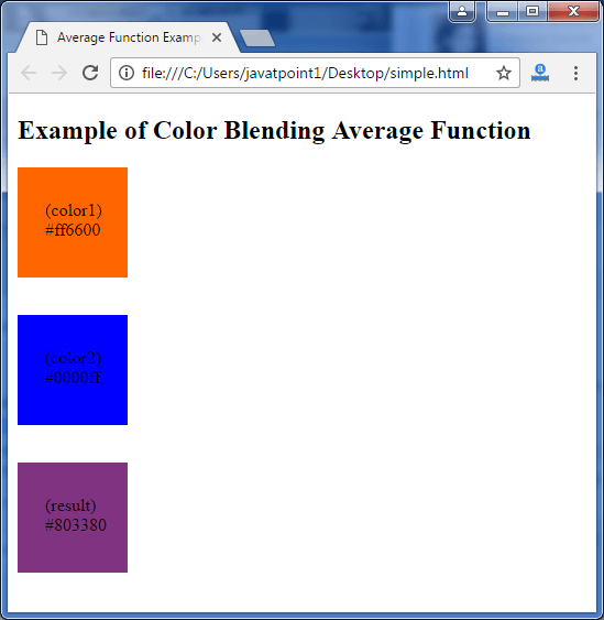 Less Color blending average function3