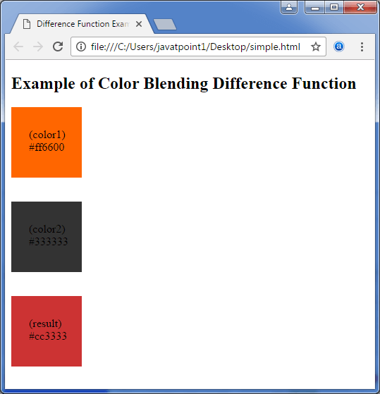 Less Color blending difference function3
