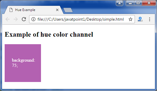 Less hue() function - javatpoint