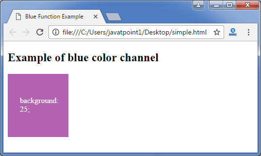 Less blue function3