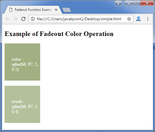 Less fadeout function3