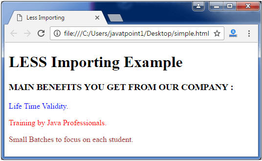 Less Less importing3