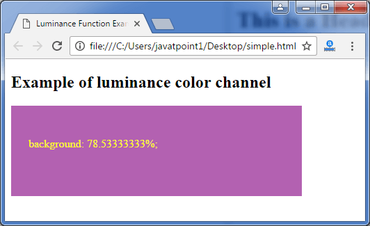 Less luminance-function3