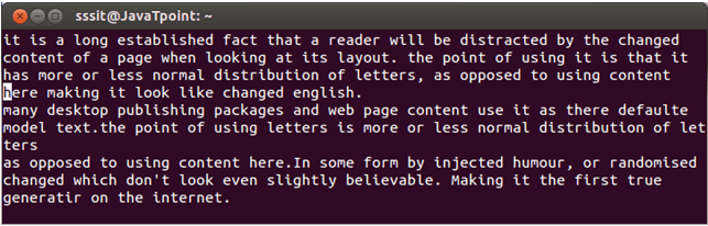 Linux Vi Text buffers1
