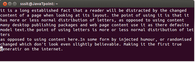 Linux Vi Text buffers3