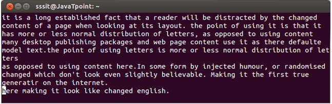 Linux Vi Text buffers4