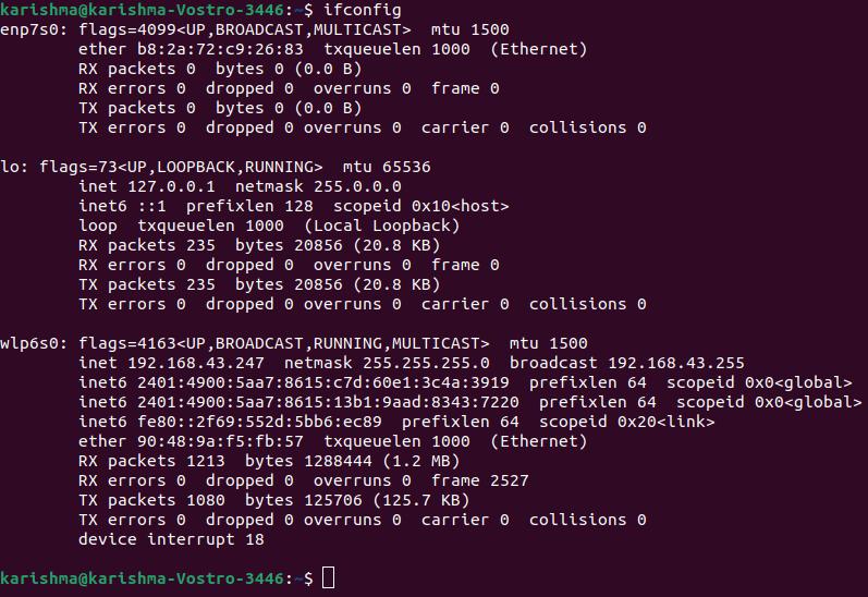 Find IP Address in Linux