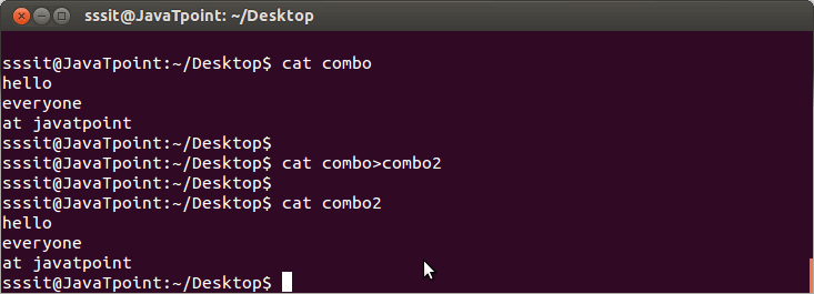 Linux cat Copy