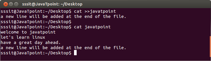 Linux cat Creat2