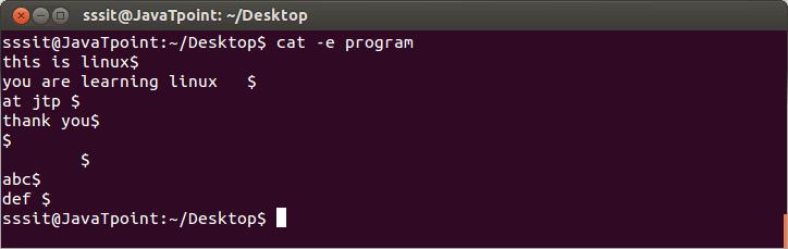 Linux cat e