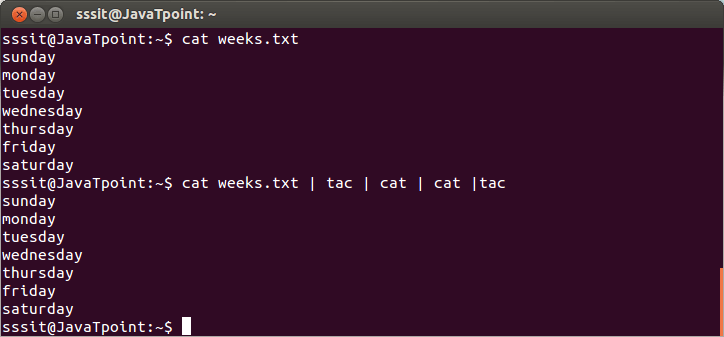Linux Cat Filter