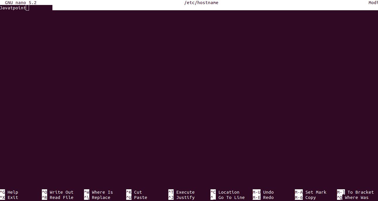 Linux Change Hostname