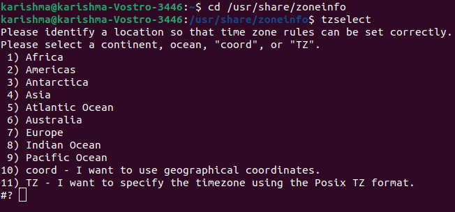 Linux Change Timezone