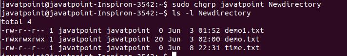 Linux chgrp Command