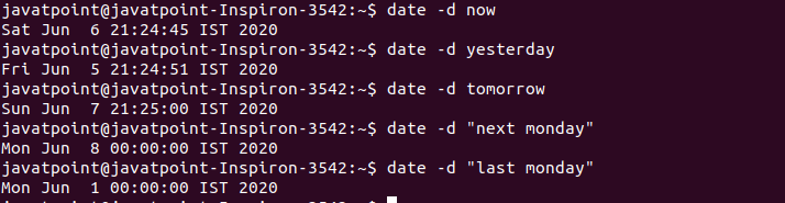 Linux Date