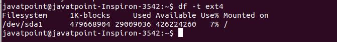 Linux df
