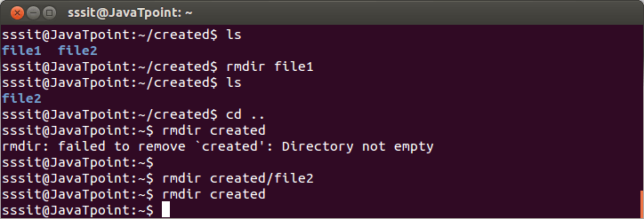 Linux-directories-rmdir-command1
