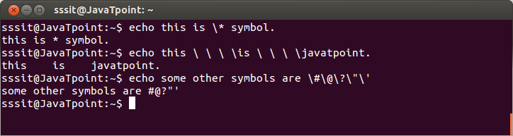 Linux Escaping Special Characters