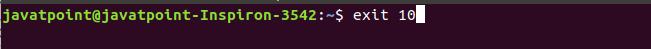 Linux exit command