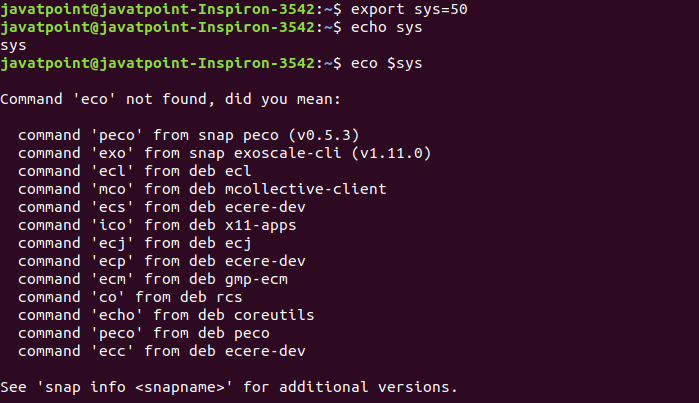 Linux export Command