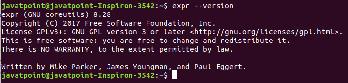 Linux expr command