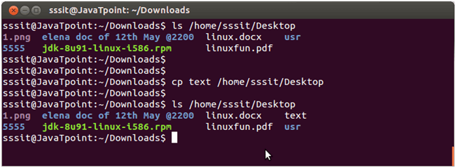 Linux File cp